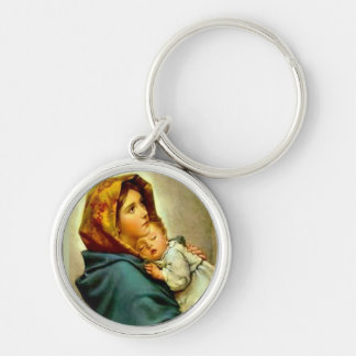 Our Lady of the Street Blessed Mother Baby Jesus Keychain