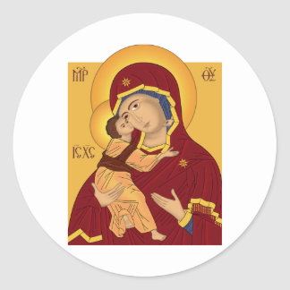Our Lady of the Vladimir Classic Round Sticker