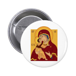 Our Lady of the Vladimir Pinback Button