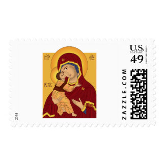 Our Lady of the Vladimir Postage Stamps