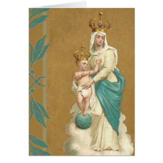 Our Lady of Victory Child Jesus Card