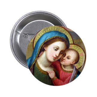 OUR LADY REFUGE OF SINNERS PINBACK BUTTON