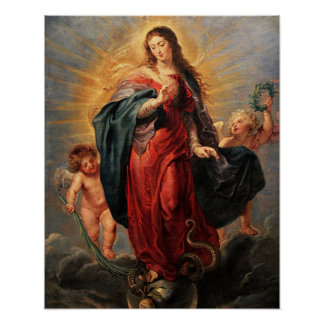 Our Lady Virgin Immaculate Heart of Mary 3 Poster