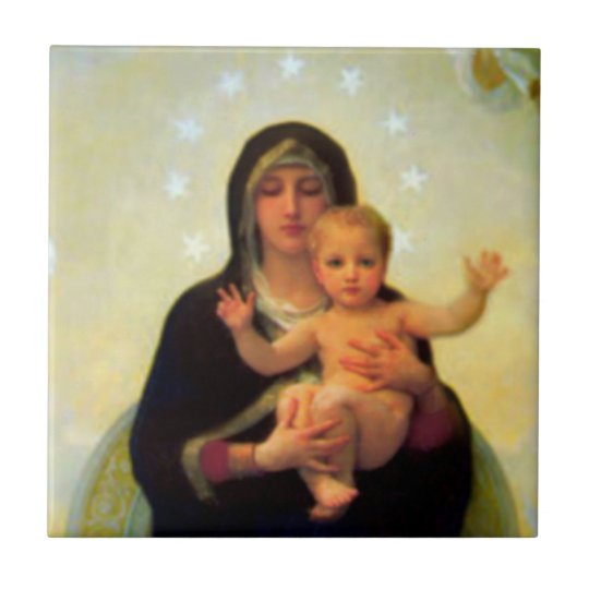 our lady virgin mary baby jesus ceramic tile zazzle com
