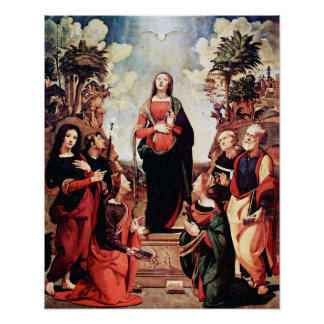 Our Lady Virgin Mary Immaculate Heart 3 Poster