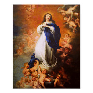 Our Lady Virgin Mary Immaculate Heart Poster