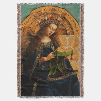 Our Lady Virgin Mary Mystical Queen of Heaven Throw Blanket