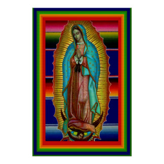 Our Lady Virgin Mary of Guadalupe Zarape Poster