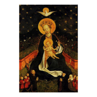Our Lady Virgin Mary of the Crescent Moon Poster