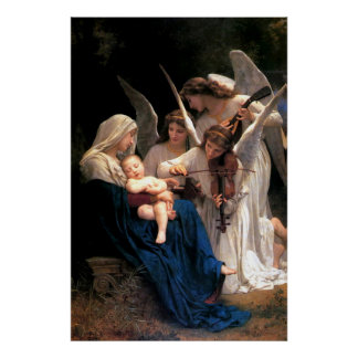 Our Lady Virgin Mary Song of Angels Poster