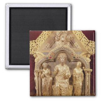 Our Lady's Shrine of Notre-Dame de Tournai 2 Inch Square Magnet