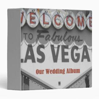Our Las Vegas Wedding Album 3 Ring Binders