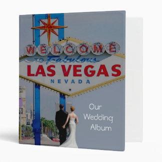 Our Las Vegas Wedding Album with Bride & Groom Vinyl Binders