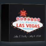 """Our Las Vegas Wedding Photo Album 3 Ring Binder<br><div class=""""desc"""">Our Las Vegas Wedding Photo Album. Personalized for John &amp; Cathy.  Change the name of bride and groom and date of wedding to your own information.</div>"""