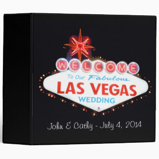 Our Las Vegas Wedding Photo Album 3 Ring Binder
