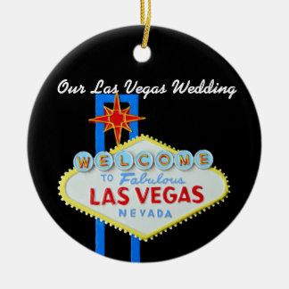 Our Las Vegas Wedding Photo Christmas Ornaments