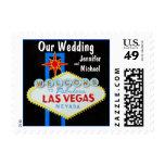 Our Las Vegas Wedding Postage Stamps