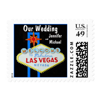 Our Las Vegas Wedding Postage Stamps