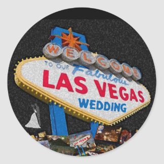 Our Las Vegas Wedding Sticker with brush stroke lo