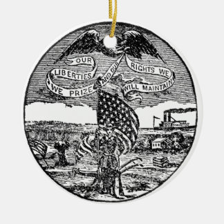 Our Liberties We Prize, Rights We Maintain Ceramic Ornament