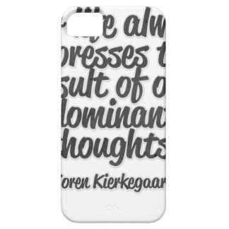 Our life always expresses the result of our ... iPhone SE/5/5s case