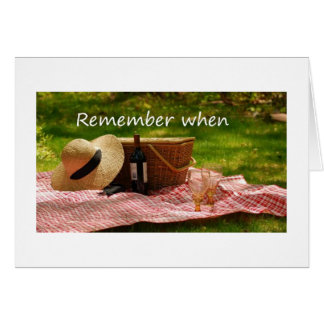 OUR LIFE WILL BE A LONG ROMANTIC PICNIC-TO GROOM GREETING CARD