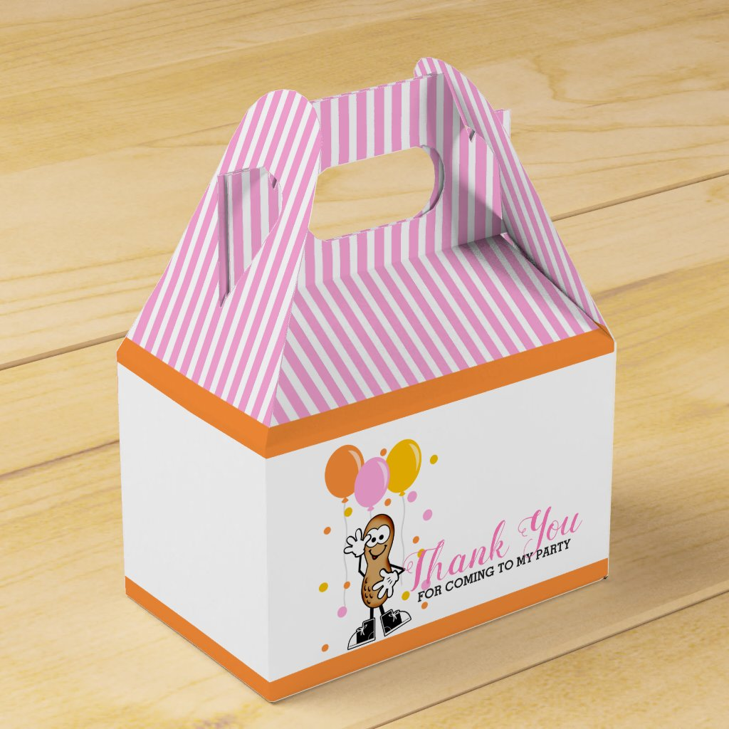 Our Lil Peanut Birthday Party Favor Box