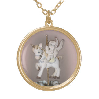 oUR LITTLE ANGEL ON A HORSE, BEAUTIFUL NECKLACE