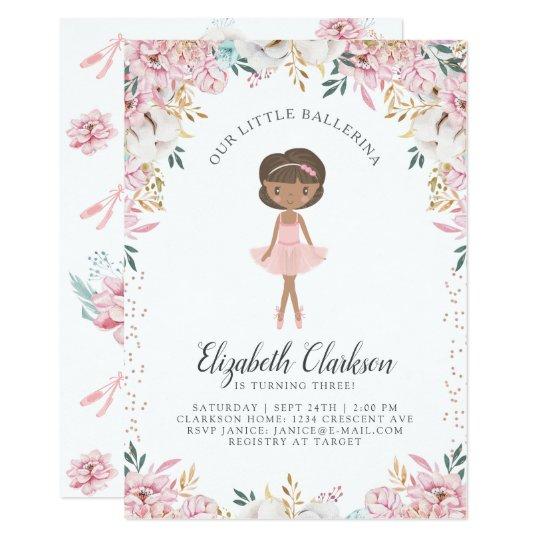 Our Little Ballerina Birthday Card Zazzle