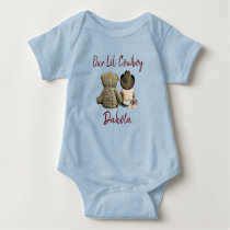 Our Little Cowboy Personalized Baby Boy Baby Bodysuit