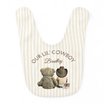 Our Little Cowboy Personalized Bib