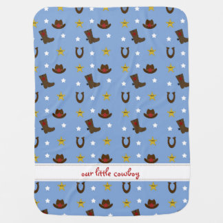 Our Little Cowboy Personalized name blanket Stroller Blankets
