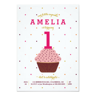 Our Little Cupcake Birthday Invitation