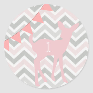 Our Little Doe Is Turning ONE! Birthday Sticker