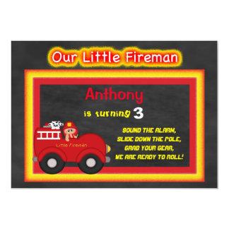 Our Little Fireman Birthday Invitation