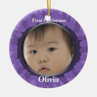 Our Little Gerber Baby Photo Ornament -Grape