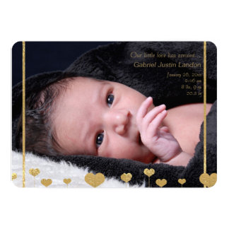 Our Little Love Photo Birth Announcement