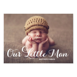 Our Little Man | Birth Announcement