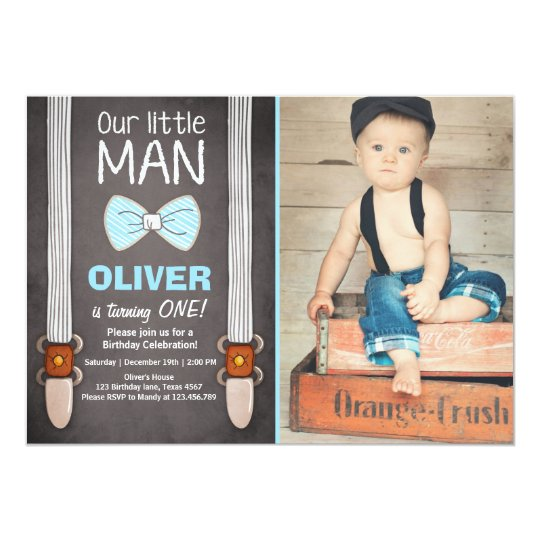 Our little man birthday invitation boy bow tie zazzle our little man birthday invitation boy bow tie filmwisefo