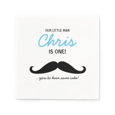 lorena_depante Our Little Man is one! Mustache you to have cake Napkin