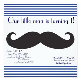 Our Little Man Mustache Birthday Invitations