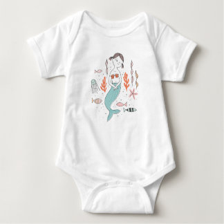 Our Little Mermaid Cute Baby Bodysuit