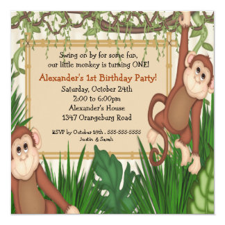 Our little Monkey 1st Birthday Card