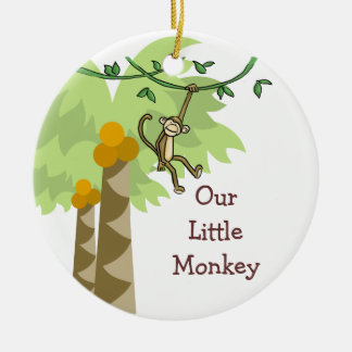 Our Little Monkey Personalized Photo Baby Ornament