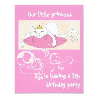 "Our little princess birthday party invitation 4.25"" x 5.5"" invitation card"