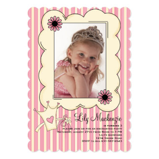 Our Little Princess Photo Birthday Invitation #2
