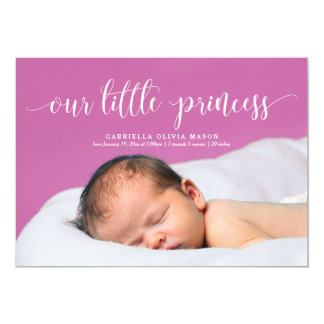 Our Little Princess Script Birth Announcement
