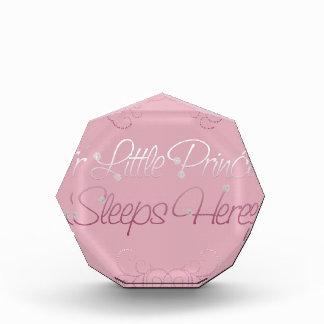 Our Little Princess Sleeps Here Acrylic Award
