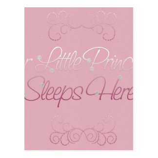 Our Little Princess Sleeps Here Postcard