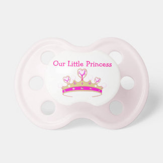 Our Little Princess Tiara Crown Girly Pink Name Baby Pacifiers
